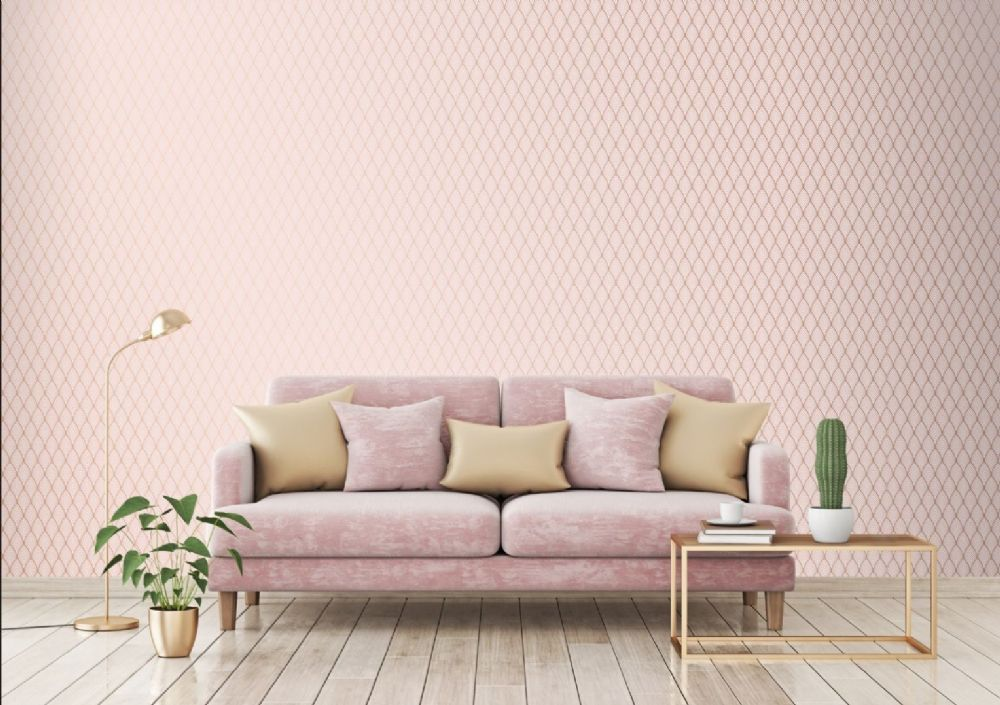 Graham and Brown Bercy Pink 106369 Wallpaper PB